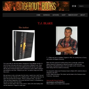 T. J. Blake and The Author on Gingernut Books