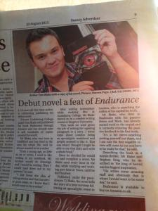 Endurance and T. J. Blake in Surrey Advertiser