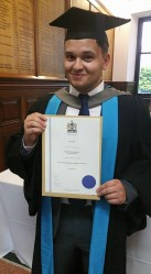 T. J. Blake graduating Kingston University