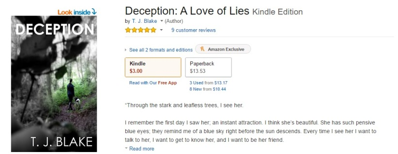 deception t. j. blake amazon.com ratings