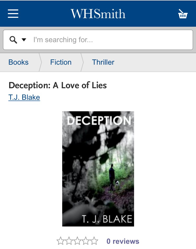 Deception T. J. Blake WHSmith