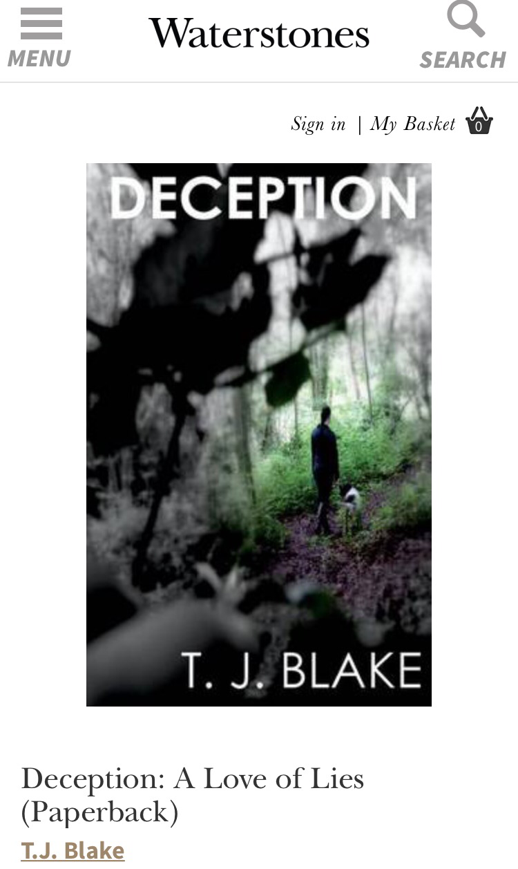 Deception T. J. Blake Waterstones