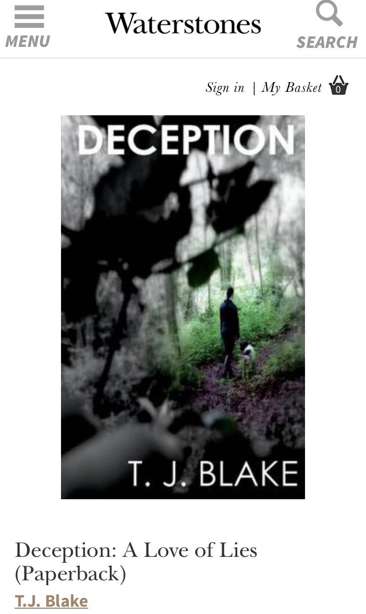 Deception T. J. Blake Waterstones