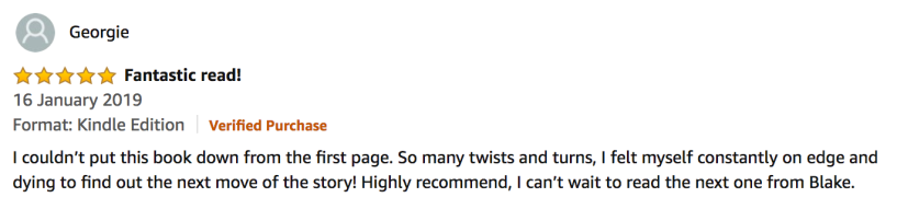 5 Star Amazon Review from Georgie