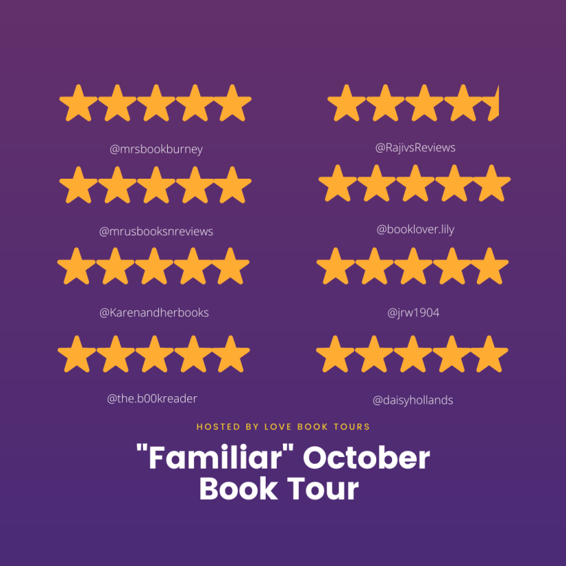 Familiar book tour ratings